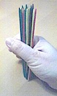 Picture of hand holding for Pick-Up Sticks