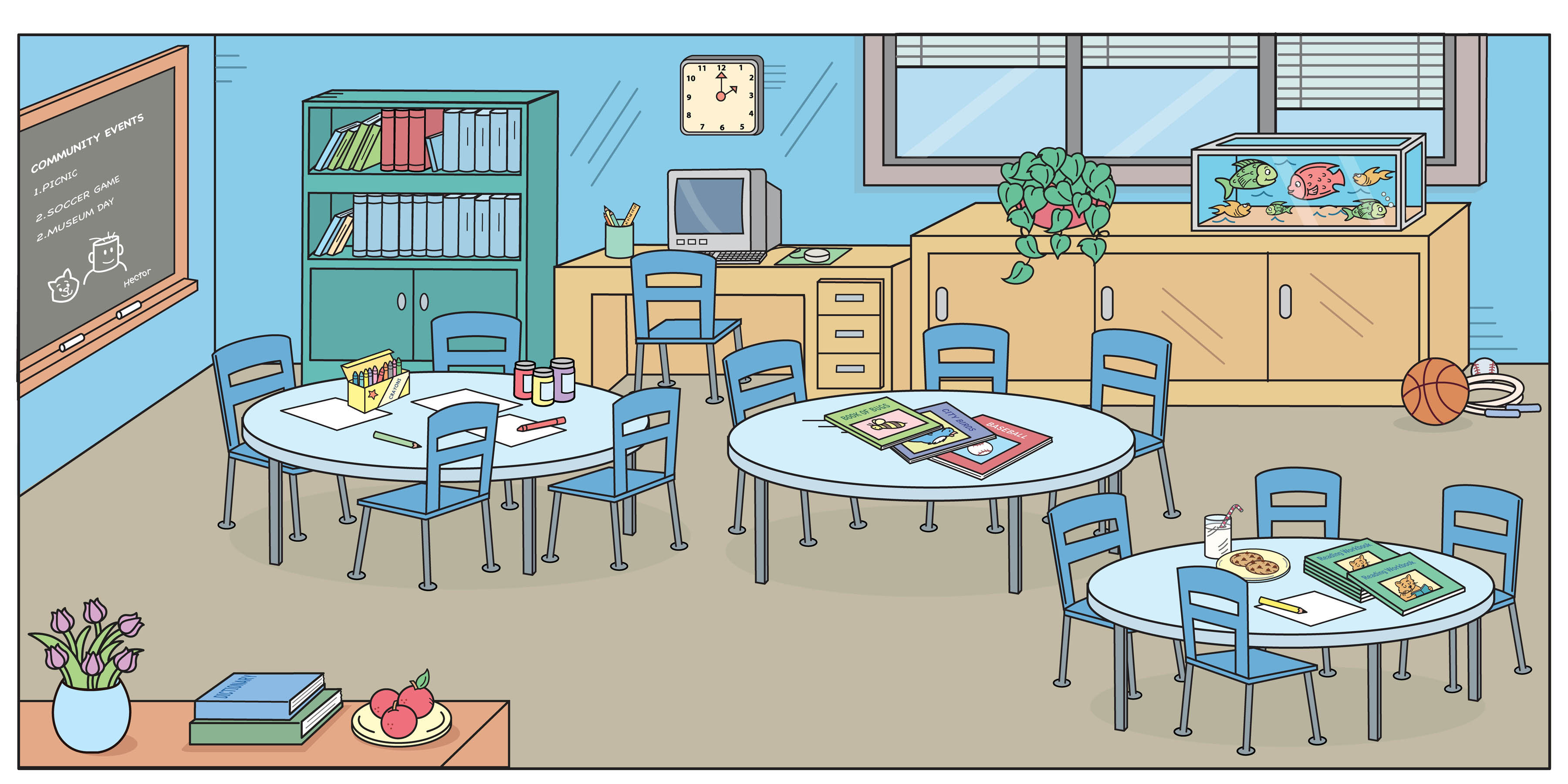 New Class Room Clipart