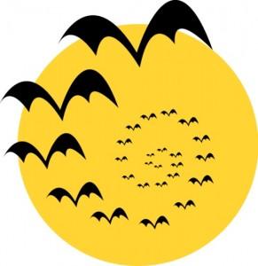 halloween moon bats