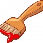 lead paint on brush