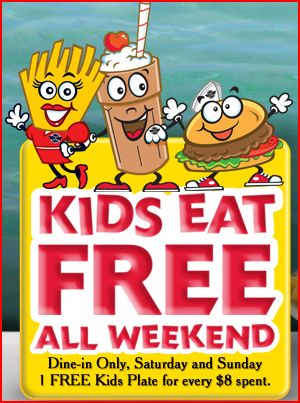 Kids eat free with new Steak 'n Shake promotion. For every $9 spent, visitors to the restaurant can get a free kids plate for a child under